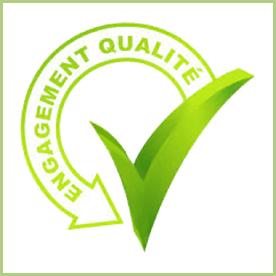 Les applicateurs de granulat de marbre - Logo Engagement qualité