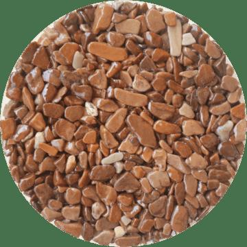 Les couleurs du granulat de marbre - Couleur marrone