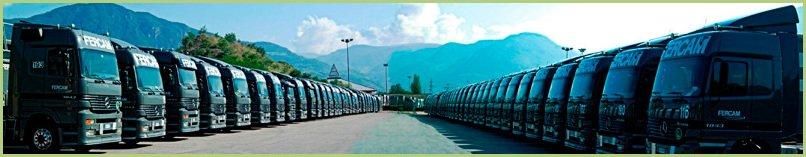 Flotte de Camions de la Société FERCAM