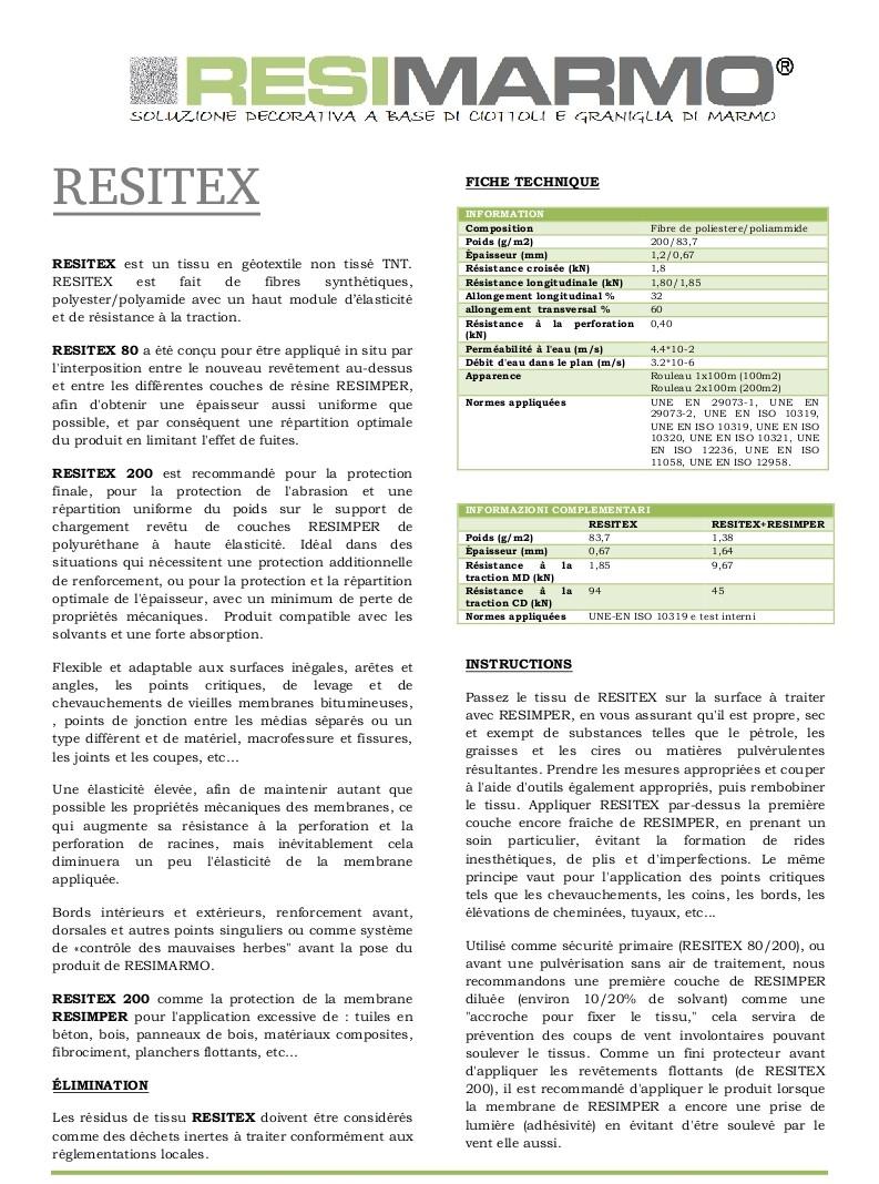 Fiche technique RESITEX