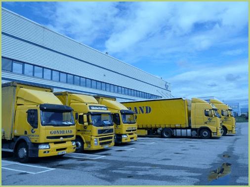 Les transports du granulat de marbre - Une des flottes de camion GONDRAND