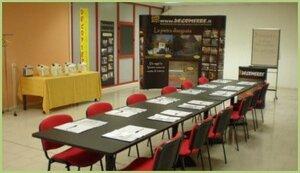 Salle de formation DECOPIERRE Italia / RESIMARMO Italia