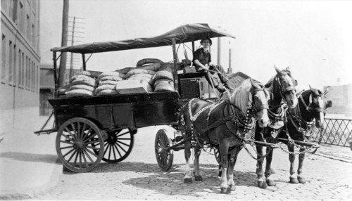 Transports à cheval du siècle dernier